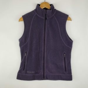 Columbia Full Zip Purple Sleeveless Vest